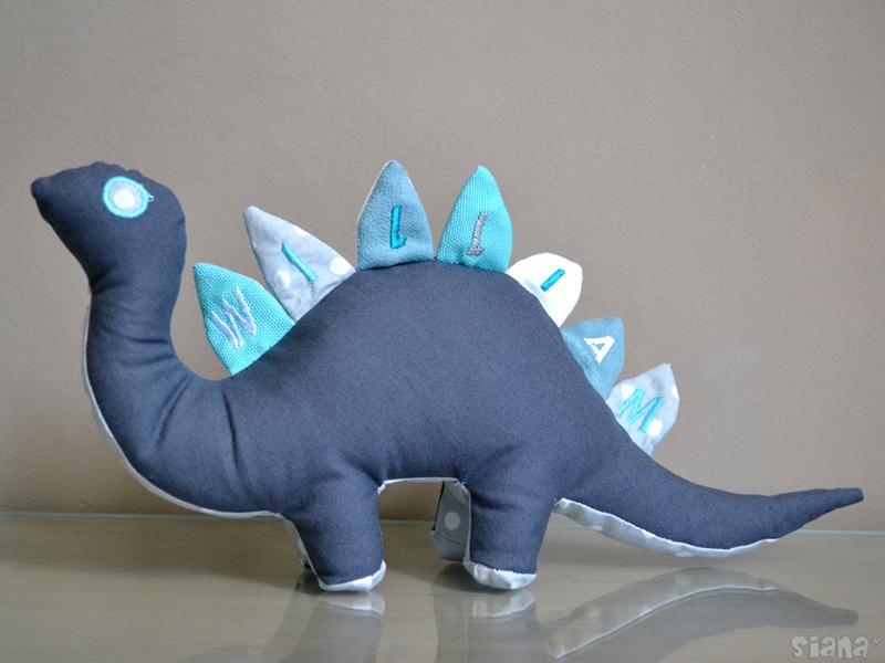 patron couture doudou dinosaure