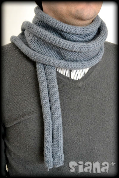 tricoter une echarpe en point jersey